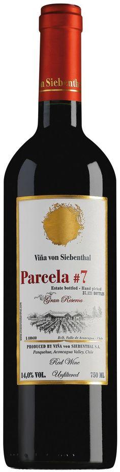 """""""Parcela #7""""  40 % Cabernet Sauvignon / 31% Petit Verdot /  16% Merlot / 13% Cabernet Franc  2011 - Viña Von Siebenthal, Valle de Aconcagua---------------------Terroir: Valle de Aconcagua - Región de Aconcagua------------Crianza: 20 meses en barricas de roble francés (70%) y americano (30%), 30% nuevas"""