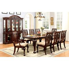 Furniture Of America Harsburough Classic 9 Piece Dining Table Set   There  Will Be No Second Guesses As To Where Your Special Occasions Will Be Hosted  When ...