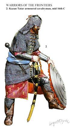 Kazan Tatar armoured cavalryman, middle of the century