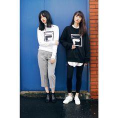 Sweat shirt: FILA x EMODA BOX LOGO ¥6,900 (税別)