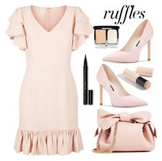 """Ruffle"" by stranjakivana ❤ liked on Polyvore featuring STELLA McCARTNEY, ZAC Zac Posen, Nine West, Burberry, Lumière, ruffles, polyvoreeditorial and RuffLyfe"