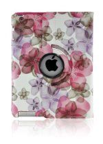 Tenmile offer LiViTech(TM) Fresh Flower Design Series 360 Rotating PU Leather Case Cover for Apple iPad 4/3/2 (Purple Pink). This awesome product currently limited units, you can buy it now for  $9.99, You save - New