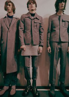 Grey suits and stomping boots backstage at Lanvin AW15 PFW. See more here: http://www.dazeddigital.com/fashion/article/23381/1/lanvin-aw15