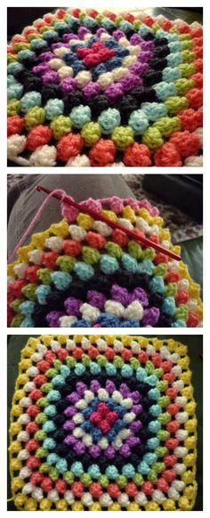 Crochet Granny Bobble Blanket Free Pattern
