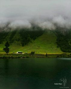 So fantastic photography of beautiful Rainbow lake Astore valley Ghizer Hunza valley Gilgit Baltistan Pakistan