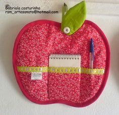 ♥♥ porta anotações maçã ♥♥