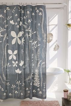 Klara Allover Floral Shower Curtain - Urban Outfitters