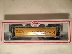 HO scale Model Power custom Winnipeg grain covered hopper car train  #ModelPower