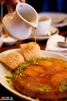 Some knefe for dessert? عبالكن تتحلّو؟ Cheese Knefe a traditional Lebanese dish may be served for breakfast or for dessert.