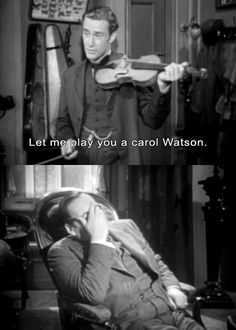 Calm down, Watson. You're a doctor. Surely you have some aspirin.