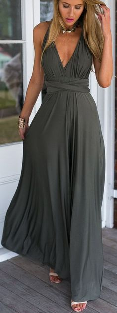 Prom Gown,Pretty Prom Dresses,Gray Prom Gown,Simple Prom Gown,Grey