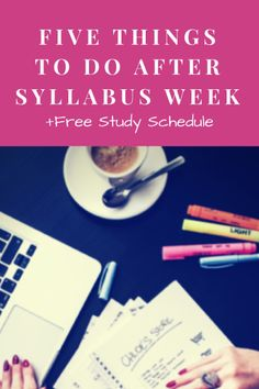 Five great organization and planning tips, plus a free study schedule printable!