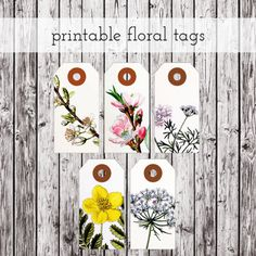 Printable Floral Tags | Packagery