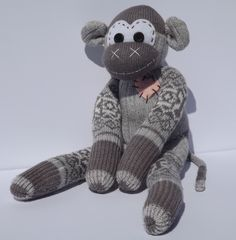 A personal favorite from my Etsy shop https://www.etsy.com/listing/269963849/handmade-sock-monkey-jesse-the-original