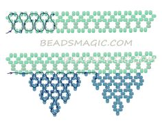 Free pattern for beaded necklace White Lace | Beads Magic