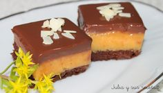 CUADRADITOS DE NARANJA Y CHOCOLATE
