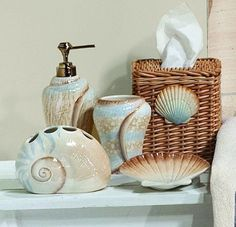 44 Best Seashell Bathroom Decor Images Paper Engineering