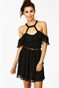 Ruffled Cage Dress
