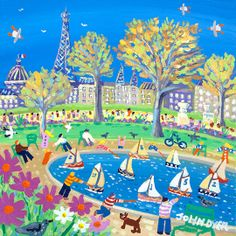 Sunday Afternoon in the Park, Paris by John Dyer