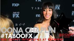 """Oona Chaplin interviewed at FX Network's """"Taboo"""" Premiere Red Carpet #TabooFX"""