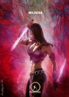 Mortal Kombat X Mileena Piercing Variation by Grapiqkad.deviantart.com on @DeviantArt
