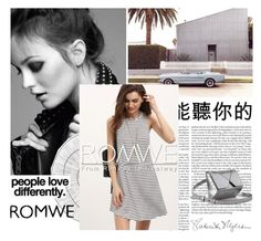 """""""Romwe"""" by bellamonica ❤ liked on Polyvore featuring Cyan Design and Kenzie"""