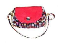 cute little red handbag with a strap by sofiapaseka on Etsy, $48.00