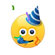 Happy Birthday Emoji, Happy Birthday Video, Happy Birthday Greetings Friends, Happy Birthday Images, Animated Smiley Faces, Funny Emoji Faces, Animated Emoticons, Cute Cartoon Images, Emoji Images