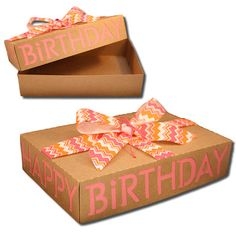 Bits of Paper:  Happy Birthday Box!