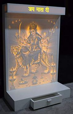 CNC Machine corian Engraving Wall Hanging Temple with LED Backlit