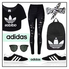 """Adidas"" by mahira-muminovic ❤ liked on Polyvore featuring adidas Originals, adidas, Topshop, Spitfire and sporty"