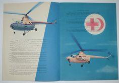 Russian Booklet Air Liner HELICOPTER MI 1 Aeroflot USSR AVIAEXPORT Line Cra