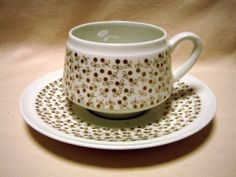 ARABIA-Finland-Esteri-Tomula-Kimmel-Vintage-Coffee-Cup-and-Saucer-Excellent Coffee Cups And Saucers, Cup And Saucer, Tea Cups, Vintage Coffee Cups, Chocolate Cups, Scandinavian Design, Finland, Arts And Crafts, Ceramics
