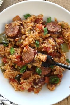 Sausage Recipes For Dinner, Healthy Dinner Recipes, Good Meals For Dinner, Recipes With Sausage Kielbasa, East Dinner Ideas, Dinner Recipes With Rice, Dinner Iseas, Good Dinner Ideas, Different Dinner Ideas