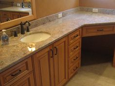 Utilize that corner, create a vanity space that will inspire your day! Bathrooms by the Home Impovement Source
