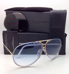 6e7f8a4f6f77 P 8478 W 63-10 Gold   White Frame W 2 Lens Sets New Titanium Aviator W 2  Sunglasses · Porsche Design ...