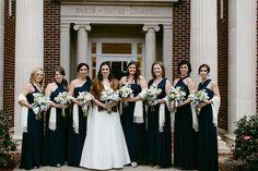 Navy White Ole Miss Oxford Floral Co. Mississippi Wedding Aleshia Landon 27 - B Flint Photography - midsouthbride.com
