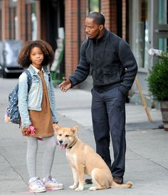Fantastic Mr. Foxx Jamie Foxx and Quvenzhane Wallis filmed a scene for the movie adaptation of the Broadway musical Annie in New York City o...