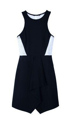 Tibi - Ponte Drape Front Dress
