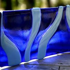 Deep Blue Sea Fused Glass Tray {one-of-a-kind fused glass art ...