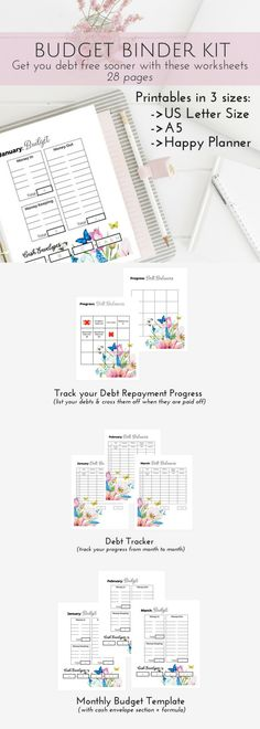 Printable Cash Budget Kit - financial planner, budget templates