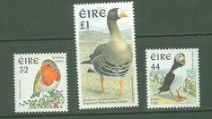 L 017 Ireland Robin Puffin Goose birds (MNH) mix (want)