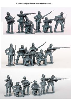 ACW 120 American Civil War Union Infantry in sack coats skirmishing 1861-65, Perry Miniatures