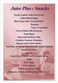 juice plus snacks
