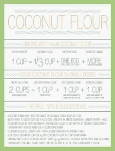 Coconut Flour substitutions... this is incredibly helpful!