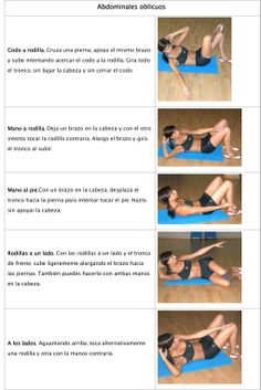 abdominales oblicuos Workout, Wood Trunk, Shape, Arms, Legs, Oblique Crunches, Healthy Living, Sports, Work Out