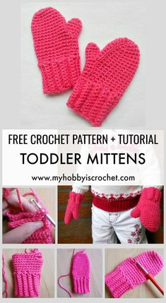 Toddler Mittens - Free Crochet Pattern with Tutorial Keep the small hands warm with cute crochet mittens! Learn how to make them with the free crochet pattern + tutorial on . patterns mittens Toddler Mittens - Free Crochet Pattern with Tutorial Crochet Baby Mittens, Toddler Mittens, Crochet Mittens Free Pattern, Crochet Gloves, Crochet Slippers, Knitting Patterns, Crochet Patterns, Sewing Patterns, Crochet Simple