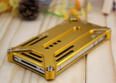 Aluminum Cleave X-5 Transformers Metal Bumper Case Cover for iPhone 4 / 4S (Golden) - Cases  Skins - iPhone 4/4S - iPhone Accessories