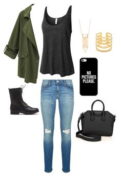 """""""Coffee date!! ☕️"""" by cute-angie on Polyvore featuring LE3NO, Rebecca Minkoff, Stella & Dot, Givenchy and Casetify"""
