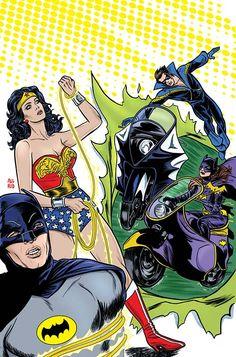 Batman Meets Wonder Woman The action heats up in Gotham, as Wonder Woman comes to Man's World in search of the Batman. But she'll find new allies instead! Superman, Batman Art, Batman Comics, Dc Comics, Batman 1966, Lego Batman, Lynda Carter, Wonder Woman, Comic Book Covers